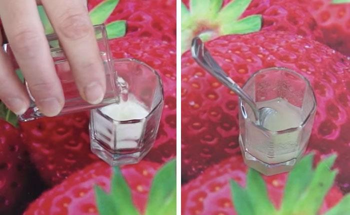 порошок агара с водой