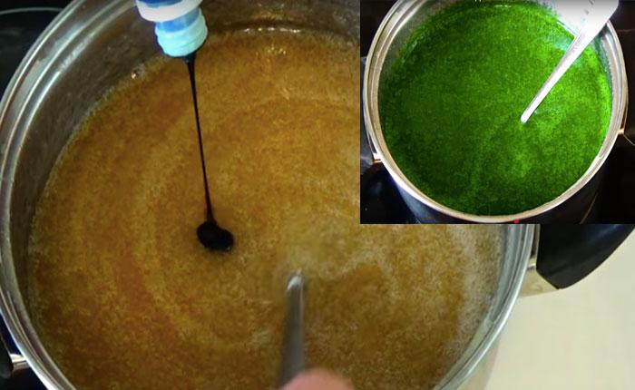 зеленый пищевой краситель