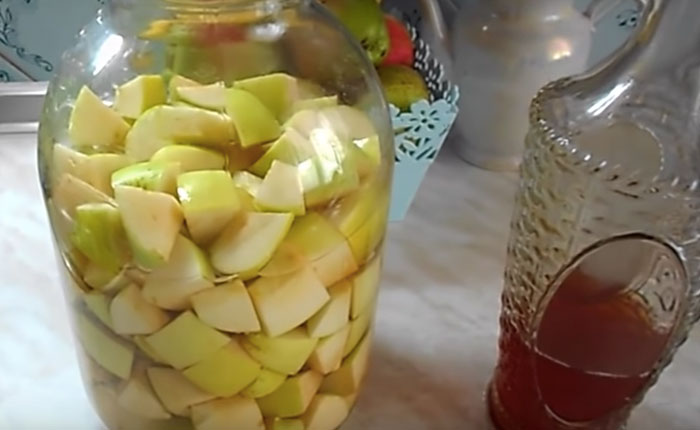 самый простой рецепт уксуса из яблок
