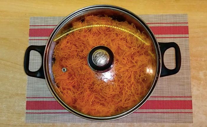 морковка в кастрюле