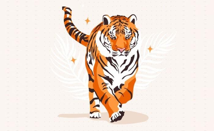 тигр трафарет на окна