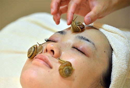 массаж кожи лица улиткой ахатиной